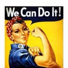 Colecionismo de cartazes: WE CAN DO IT! REPRODUCCION CARTEL PROPAGANDA SEGUNDA GUERRA MUNDIAL. LÁMINA CARTEL 45 X 32 CMS.. Lote 153913417