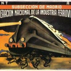 Coleccionismo de carteles: CARTEL GUERRA CIVIL * INDUSTRIA FERROVIARIA * (REPRODUCCIÓN/COLECCIÓN ED. URBIÓN). PERFECTO ESTADO.. Lote 55524446