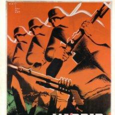Coleccionismo de carteles: CARTEL GUERRA CIVIL * DEFENSAR NADRID... * (REPRODUCCIÓN/COLECCIÓN ED. URBIÓN). PERFECTO ESTADO.. Lote 55818794