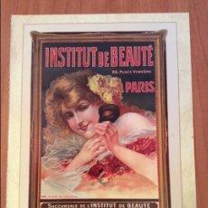 Coleccionismo de carteles: LAMINA REPRODUCCIÓN ANTIGUO CARTEL PUBLICITARIO. INSTITUTO DE BELLEZA. Lote 56589410