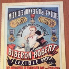 Coleccionismo de carteles: LAMINA REPRODUCCIÓN ANTIGUO CARTEL PUBLICITARIO. BIBERÓN ROBERT. Lote 263252595