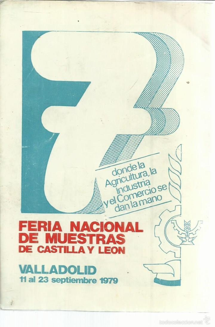 Coleccionismo de carteles: FOLLETO DE FERIAS DE VALLADOLID 1979. INCLUYE REPRODUCCIONES DE CARTELES - Foto 2 - 56609809