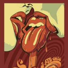 Collezionismo di affissi: THE ROLLING STONES - SANTIAGO DE CHILE, ESTADIO NACIONAL 3 FEB. 2016 !! CARTEL CONCIERTO 30X40 !!. Lote 222275925