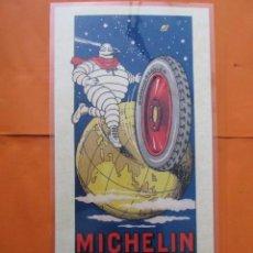 Coleccionismo de carteles: CARTEL - REPRODUCCION ANTIGUA PUBLICIDAD MICHELIN - 22 X 42 (INCLUIDO MARGENES). Lote 57606969