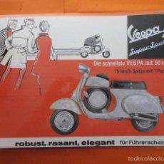 Collezionismo di affissi: CARTEL - REPRODUCCION ANTIGUA PUBLICIDAD MOTO VESPA 50 SUPER SPRINT - 30 X 42 (INCLUIDO MARGENES) . Lote 62171814