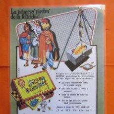 Coleccionismo de carteles: CARTEL - REPRODUCCION ANTIGUA PUBLICIDAD GEYPER JUEGOS REUNIDOS 27 X 39 (INCLUIDO MARGENES). Lote 57607135