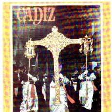 Collectionnisme d'affiches: CARTEL REPRODUCCION SEMANA SANTA 1968 CADIZ. CRUZ DE GUIA. LAMISESA-0304,2. Lote 58115892
