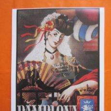 Coleccionismo de carteles: LAMINA REPRODUCCION ANTIGUA PUBLICIDAD 32 X 45 CM - PAMPLONA SAN FERMIN FERMINES AÑO 1949. Lote 58134909
