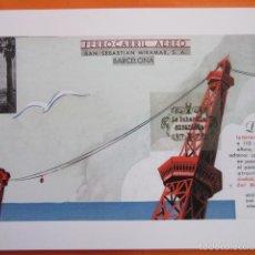Coleccionismo de carteles: LAMINA REPRODUCCION ANTIGUA PUBLICIDAD 32 X 45 CM - FERRROCARRIL AEREO SAN SEBASTIAN MIRAMAR PUERTO . Lote 58135052
