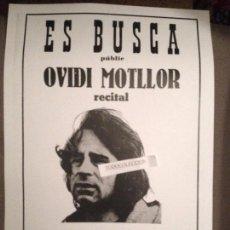 Coleccionismo de carteles: OVIDI MONTLLOR - SE BUSCA RECITAL TORELLO CITY 1973 ES REPRODUCCION IDENTICA ORIGINAL. Lote 192755982