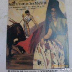 Coleccionismo de carteles: 58 REPRODUCCIONES DE CARTELES DE TOROS -28,5 X21 CM. Lote 64086387