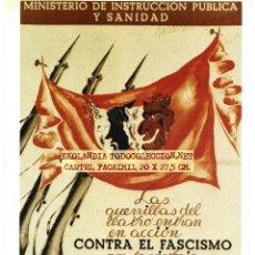 Coleccionismo de carteles: CG1 CARTEL REPUBLICANO FACSMIL EKL CARTELES GUERRA CIVIL. Lote 65977482
