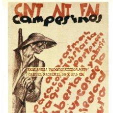 Coleccionismo de carteles: CG1 CARTEL REPUBLICANO FACSIMIL EKL CARTELES GUERRA CIVIL. Lote 65990370