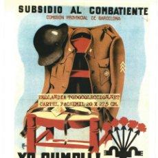 Coleccionismo de carteles: CG1 CARTEL NACIONAL FACSIMIL EKL CARTELES GUERRA CIVIL. Lote 66006306