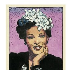 Collectionnisme d'affiches: BILLIE HOLIDAY - ROBERT CRUMB COLLECTION, LEGENDS OF THE BLUES !! CARTEL CONCIERTO 30X40 !!. Lote 219469348