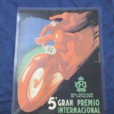 Coleccionismo de carteles: CARTEL - REPRODUCCION ANTIGUA PUBLICIDAD 5º GRAN PREMIO MOTO CLUB MONTJUICH- 27 X 42 (INC.MARGENES) . Lote 68772529