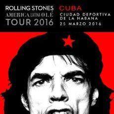 Coleccionismo de carteles: ROLLING STONES - CIUDAD DEPORTIVA LA HABANA, CUBA 25 MARZO 2016 !! CARTEL CONCIERTO 30X40 !!. Lote 220546030