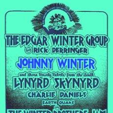 Collezionismo di affissi: LYNYRD SKYNYRD - JOHNNY WINTER - EDGAR WINTER / AOKLAN STADIUM SEP. 75 !! CARTEL CONCIERTO 30X40 !!. Lote 70402413