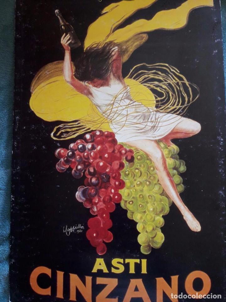 CARTEL ASTI CINZANO / REPRODUCCIÓN AÑOS 70' (Coleccionismo - Reproducciones de carteles)