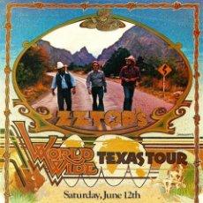 Collectionnisme d'affiches: ZZ TOP - CONCERT POSTER WORLD WIDE TEXAS TOUR 1976 - CARTEL CONCIERTO 30X40 !!. Lote 72462441