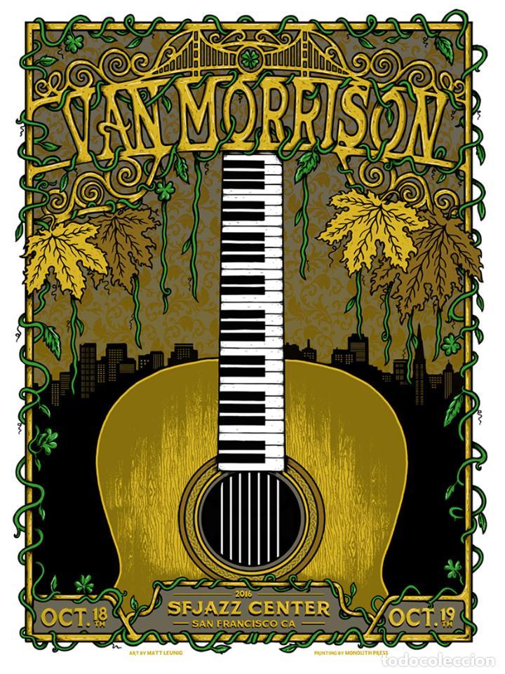 VAN MORRISON - SAN FRANCISCO, CA OCTOBER 18TH & 19TH, 2016 !! CARTEL CONCIERTO 30X40 !! (Coleccionismo - Reproducciones de carteles)