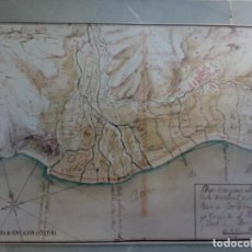 Coleccionismo de carteles: POSTER MAPA REPRODUCCIÓN/FACSIMIL PLANO DE MOTRIL. Lote 74286327