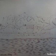 Coleccionismo de carteles: POSTER MAPA REPRODUCCIÓN/FACSIMIL PLANO DE MOTRIL. Lote 74286363