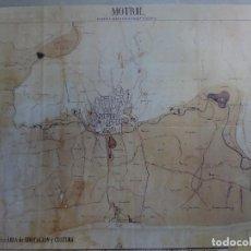 Coleccionismo de carteles: POSTER MAPA REPRODUCCIÓN/FACSIMIL PLANO DE MOTRIL. Lote 74286383