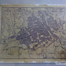 Coleccionismo de carteles: POSTER MAPA REPRODUCCIÓN/FACSIMIL PLANO DE MOTRIL. Lote 74286415