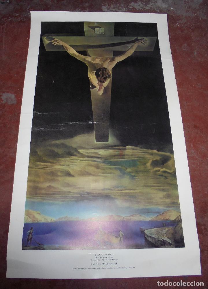 CARTEL. SALVADOR DALI. CHRIST OF ST. JOHN OF THE CROSS. GANYMED REPRODUCTION. 81 X 47 CM (Coleccionismo - Reproducciones de carteles)