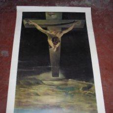Coleccionismo de carteles: CARTEL. SALVADOR DALI. CHRIST OF ST. JOHN OF THE CROSS. GANYMED REPRODUCTION. 81 X 47 CM. Lote 84893676