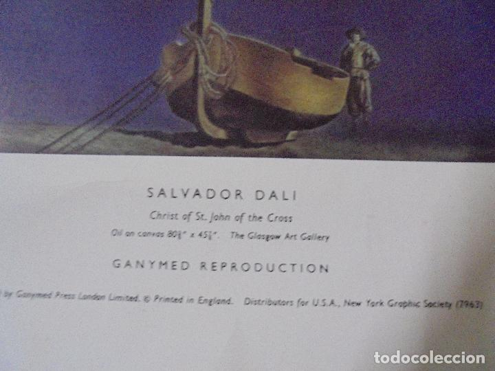 Coleccionismo de carteles: CARTEL. SALVADOR DALI. CHRIST OF ST. JOHN OF THE CROSS. GANYMED REPRODUCTION. 81 X 47 CM - Foto 4 - 84893676