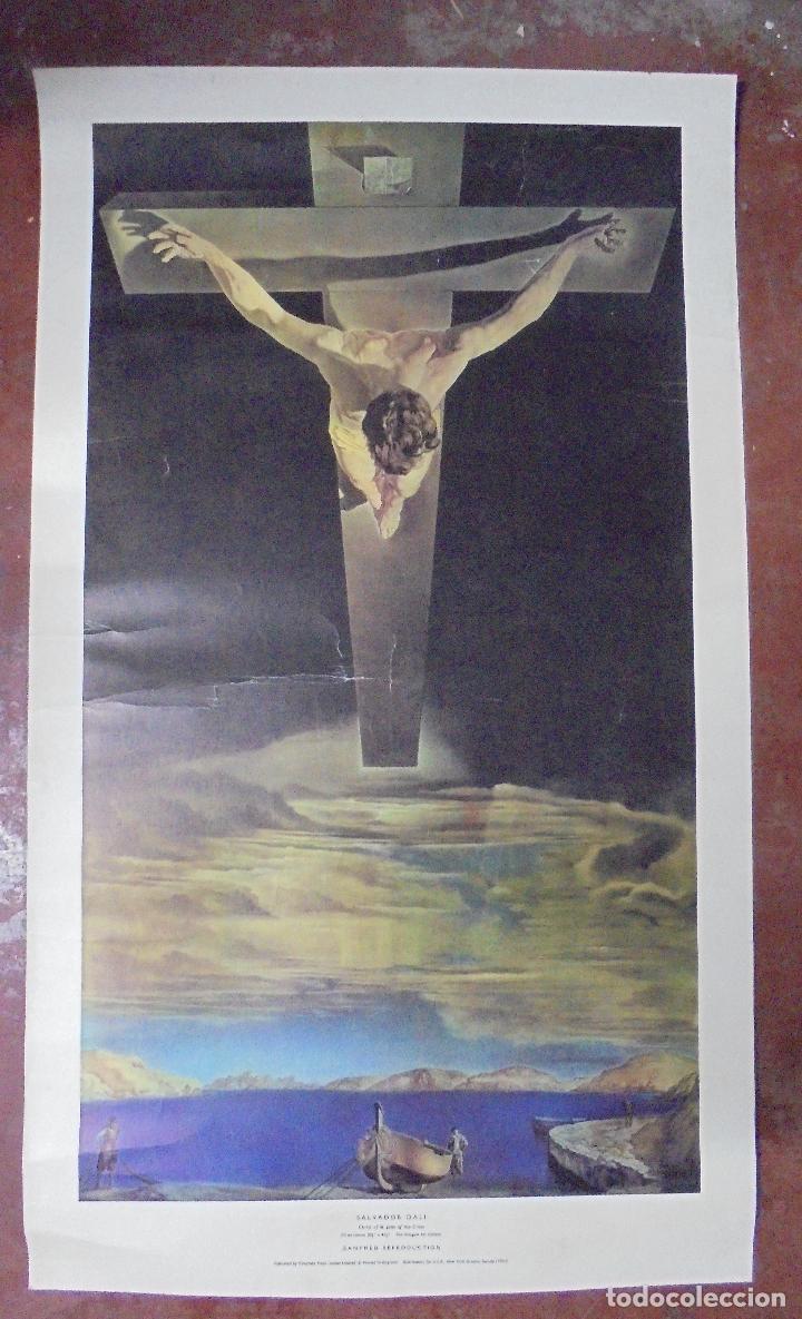 Coleccionismo de carteles: CARTEL. SALVADOR DALI. CHRIST OF ST. JOHN OF THE CROSS. GANYMED REPRODUCTION. 81 X 47 CM - Foto 5 - 84893676
