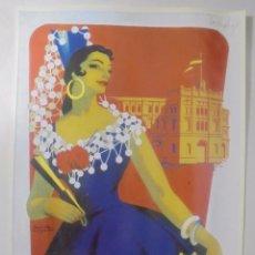 Coleccionismo de carteles: CARTEL. FERIA DE PRIMAVERA 1958. PUERTO DE SANTA MARÍA. REPRODUCCIÓN DIARIO DE CADIZ. 41,5X26,3CM. Lote 86915552