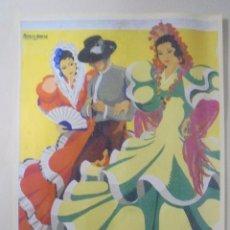 Coleccionismo de carteles: CARTEL. FERIA DE PRIMAVERA 1956. PUERTO DE SANTA MARÍA. REPRODUCCIÓN DIARIO DE CADIZ. 41,5X26,3CM. Lote 86915740