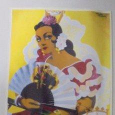 Coleccionismo de carteles: CARTEL. FERIA DE PRIMAVERA 1954. PUERTO DE SANTA MARÍA. REPRODUCCIÓN DIARIO DE CADIZ. 41,5X26,3CM . Lote 86916032