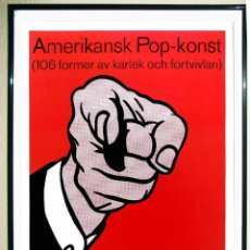 Collectionnisme d'affiches: POSTER DE - ROY LICHTENSTEIN - POINTING FINGER . REPRODUCTION POSTER PRINT 45 X 32 CMS. Lote 87024756
