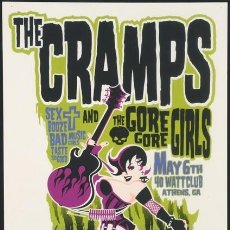 Collectionnisme d'affiches: THE CRAMPS / GORE GORE GIRLS MAY 6TH - 40 WATT CLUB, ATHENS, GA / CARTEL CONCIERTO 30X40. Lote 90191562