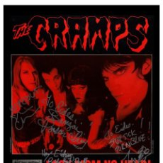 Collectionnisme d'affiches: THE CRAMPS - CRAMPS AT GRAFFITI CLUB CONCERT 1992 !! CARTEL CONCIERTO 30X40 !!. Lote 90191627