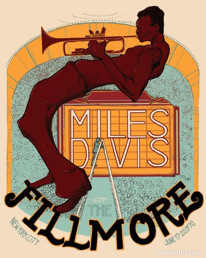 MILES DAVIS - AT FILLMORE NEW YORK CITY JUNE 1970 - CARTEL CONCIERTO 30X40 !! (Coleccionismo - Reproducciones de carteles)
