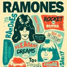 Coleccionismo de carteles: RAMONES - RAMONES RETRO POSTER - CARTEL CONCIERTO 30X40 !!. Lote 205881308