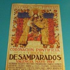Collezionismo di affissi: VIRGEN DE LOS DESAMPARADOS. REPRODUCCIÓN DEL CARTEL DE LA CORONACIÓN PONTIFICIA. MAYO 1923. Lote 92941920