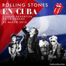 Collezionismo di affissi: ROLLING STONES - CIUDAD DEPORTIVA LA HABANA, CUBA 25 MARZO 2016 !! CARTEL CONCIERTO 30X40 !!. Lote 97209842