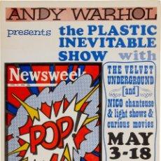 Coleccionismo de carteles: VELVET UNDERGROUND WITH NICO & LOU REED - ANDY WARHOL PRESENTS, MAY 1966 - !! CARTEL CONCIERTO 30X40. Lote 210732859