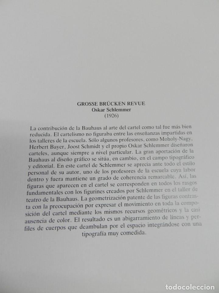 Coleccionismo de carteles: CARTEL ÉPOCA POSTER PUBLICIDAD FACSIMIL 45CMX29C GROSSE BRUCKEN REVUE OSKAR SCHLEMMER 1926 - Foto 2 - 99018307