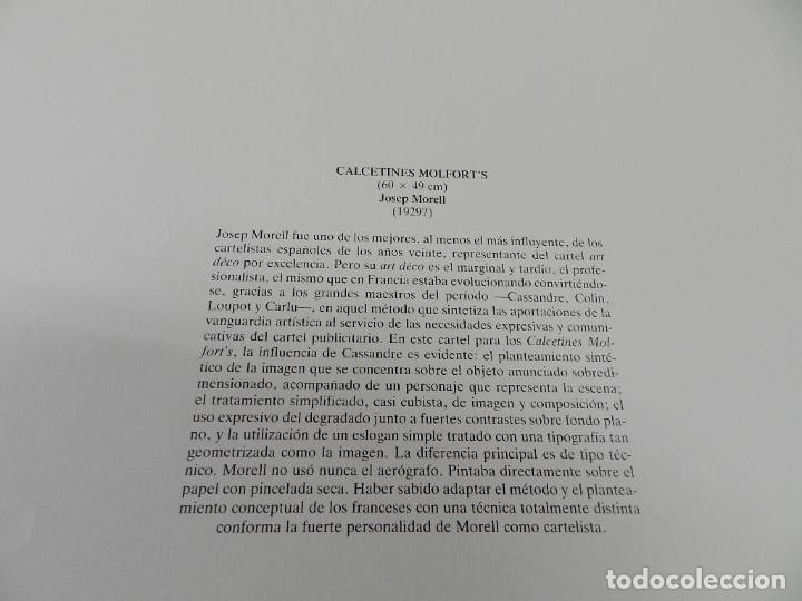 Coleccionismo de carteles: CARTEL ÉPOCA POSTER PUBLICIDAD FACSIMIL 45CMX29C CALCETINES MOLFORTS JOSEP BORRELL 1929 - Foto 2 - 99020587