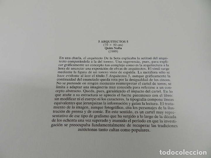 Coleccionismo de carteles: CARTEL ÉPOCA POSTER PUBLICIDAD FACSIMIL 45CMX29CM 5 ARQUITECTOS 5 QUIM NOLLA 1989 ENRIC MIRALLES - Foto 2 - 99021451