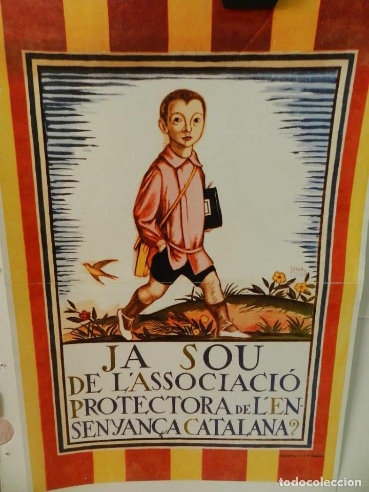 CARTEL ÉPOCA POSTER PUBLICIDAD FACSIMIL 45CMX29CM JOSEP OBIOLS 1919 ESCOLA CATALANA (Coleccionismo - Reproducciones de carteles)