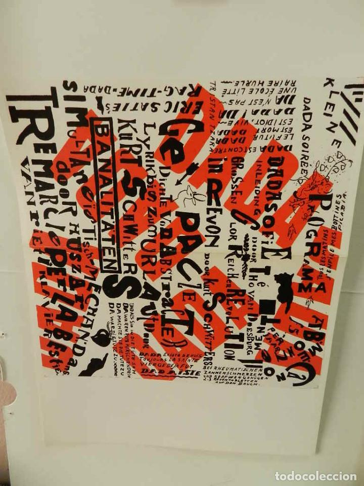 CARTEL ÉPOCA POSTER PUBLICIDAD FACSIMIL 45CMX29C KLEINE DADA SOIREE THEO VAN DOESBURG KURT SCHWITTER (Coleccionismo - Reproducciones de carteles)