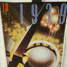 Collectionnisme d'affiches: CARTEL ÉPOCA POSTER PUBLICIDAD FACSIMIL 45CMX29CM THE NEW YORK WORLD'S FAIR IN 1939 NEMBHARD N CULIN. Lote 99028855